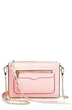 This pastel pink crossbody looks great with boyfriend jeans and a cute tee.