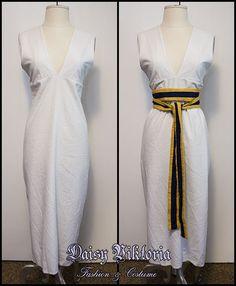 Egyptian V Neck Tapered Dress
