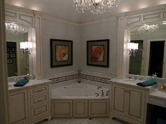 Custom Corner Bathroom Cabinets | Bathroom Design Ideas, Pictures ...