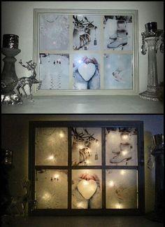 "DIY old window ""lamp"""