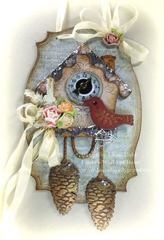 Spellbinders: Cuckoo Clock, Fall Foliage Shapeabilities, Labels Twenty-Five, and Standard Circles SM Nestabilities.
