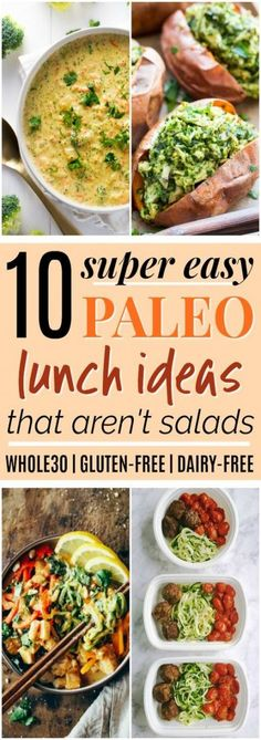 10 Easy Paleo Lunch Ideas that Aren&;t Salads 10 Easy Paleo Lunch Ideas that Aren&;t Salads San Clemente Bath Company sc_bathcompany FOOD DRINK 10 Paleo […] ideas gluten free Dieta Paleo, Whole Food Recipes, Diet Recipes, Healthy Recipes, Gluten Free Recipes For Lunch, Dairy Free Lunches, Whole30 Recipes Lunch, Paleo Ideas, Ketogenic Recipes