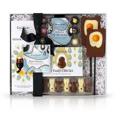 Easter Hamper - A gift basket of delicious Easter chocolate treats to put a spring in your step.