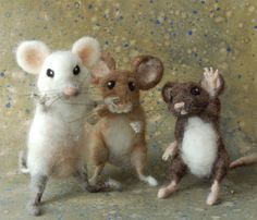 I love the cute little felt animals. Especially these mice