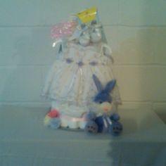 A Dress diaper cake.