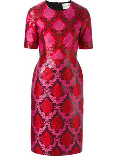 This pInk and red silk blend 'Volutra' dress from Mary Katrantzou is amazing!