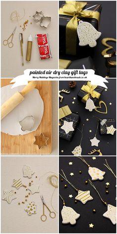 DIY / Air Dry Clay Gift Tags....cute <3