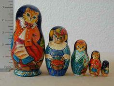 """Cats"" Matryoshka Nesting Doll Russian Collection Sacramento Sale | eBay"