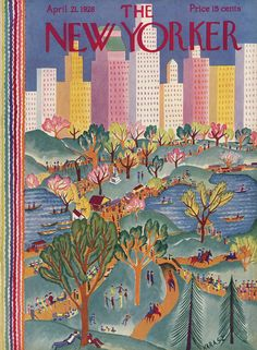 The New Yorker - Saturday, April 21, 1928 - Issue # 166 - Vol. 4 - N° 9 - Cover by : Ilonka Karasz