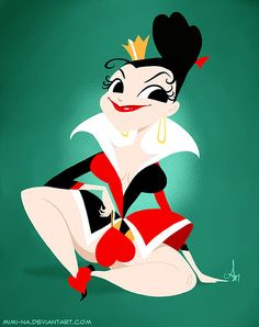 Queen of Hearts - pin up