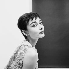 Audrey Hepburn was photographed by Mark Shaw for the June 1954 issue of Mademoiselle