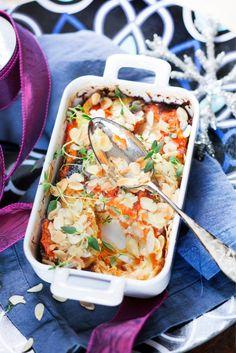Parmesaaninen palsternakka-porkkanalaatikko