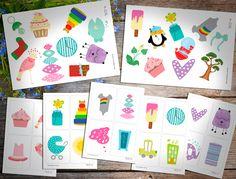 Настольная игра для малышей free printable, shichida method, Шичида, раннее развитие детей, материалы для печати