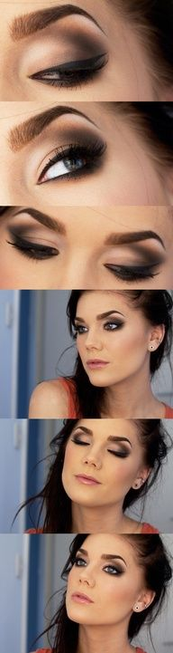 Makeup for dark hair.