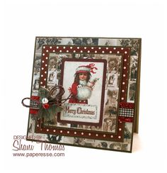 I bought this Papermania Victorian Christmas A4 Ultimate Die-cute & Paper Pack (retired, but still available online) a couple of years ...