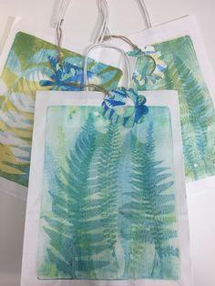 Printing with Gelli Arts®: Printed Paper Bags with Gelli Arts® by Lucy Brydon Gelli Plate Printing, Fabric Printing, Printing Ink, Screen Printing, Print On Paper Bags, Gelli Arts, Easy Watercolor, Cute Packaging, Printed Bags