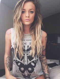 Beautiful blonde tattoos multiple piercings milf 2018