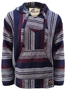 No Bad Days Baja Hoodie Mexican Poncho - Cranberry Dark Navy Gray Black Herringbone (2XL XXL) No Bad Days http://www.amazon.com/dp/B00QLBR7MG/ref=cm_sw_r_pi_dp_WkHJub1TGCYZ4