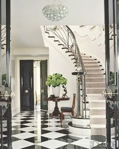 Willow Bee Inspired: Oh My My, Black and White Floors