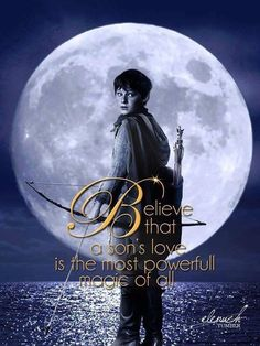 """Believe that a sons love is the strongest magic of all."" Fan made poster,Season 3.  Henry.  Once Upon a Time."