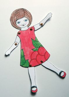 Articulated Paper Doll by JuliaPeculiar on Etsy