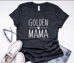 dog mom shirt, golden mama tshirt, golden retriever dog mom graphic tee, fur Mama, dog lover gift, dog mom gift, personalized, mother's day gift #dogs #doglovers #dogmom #goldenretrievers #mom #mommy #mama #mother #labrador #giftguide #gift #giftidea