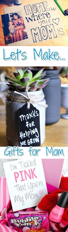 Easy DIY Gifts For Mom From Kids Homemade Birthday