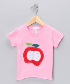 Take a look at this Pink Apple Organic Tee - Toddler by Blow-Out on #zulily today! #fall