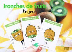 DIY : Jeu de cartes des 7 familles à imprimer (les kiwis)