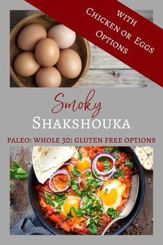 Smokey Shakshuka with Chicken or Eggs Budget friendly and easy to prepare this Smoky Shakshouka with Chicken Option or Eggs is sure to satisfy for healthy family meals. Whole 30 Recipes, Great Recipes, Clean Eating Recipes, Healthy Eating, Healthy Family Meals, Cooking On A Budget, Cooking Ideas, Paleo Recipes, Paleo Meals