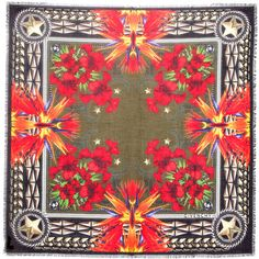 Givenchy Floral Star Printed Scarf in Multicolor - Lyst
