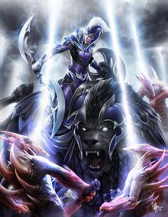 luna moonfang of Dota 2 Fantasy Warrior, Sci Fi Fantasy, Fantasy World, Dota Tattoo, Dota 2 Cosplay, Dota 2 Wallpapers Hd, Akali League Of Legends, Character Art, Character Design