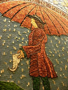Joyce Kozloff Mosaic of William Penn in Suburban Station, Philadelphia