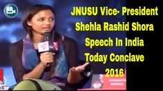 Shehla Rashid Vice - president JNU Speech In India Today Conclave !! Ind...