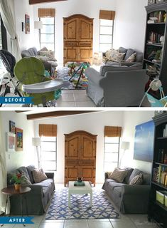 Moving part Sell your house faster with these home staging ideas Declutter. If you have kids, you pretty much need to rent a storage unit and fill it to the brim. Take serious action in closets and the ga Sell Your House Fast, Selling Your House, Home Staging Cost, Up House, Interior Design Living Room, Storage Spaces, Room Decor, House Design, Closets