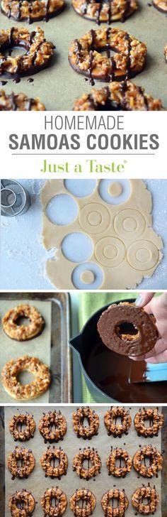 Homemade Samoas Cookies #recipe on justataste.com