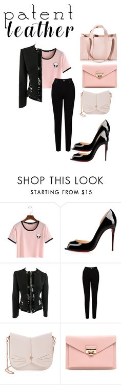 """""""Patent leather contest"""" by sofiduv ❤ liked on Polyvore featuring Christian Louboutin, Michael Kors, EAST, Ted Baker and Corto Moltedo"""