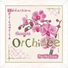 L'Orchidée - Lilipoints - A broder au point de croix