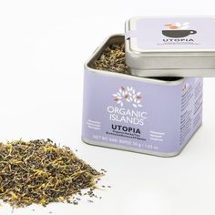 "Ancient Greeks believed herbs had magical powers, due to their ability to cure combining different elements. Revisit the ""art of living"" inspired by the Greek culture.  Utopia herbal tea (Pennyroyal/Marigold/mandarin zest) made by Organic Islands is a soothing, organic herbal drink without caffeine, with a mandarin aftertaste.  Served as a hot beverage in winter with activity against stomach disorders and as a refreshing cold drink in the summer. Ideal for cooking in salads, rice and… Organic Herbal Tea, Organic Herbs, Cooking Herbs, Greek Dishes, Medicinal Plants, Herbal Medicine, Stay Safe, How To Dry Basil, Islands"