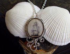Hoher See  Piraten Schiff Halskette  Lust von TheLysineContingency, $13.00