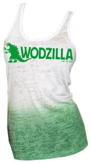 WOD Outlet - CrossFit Apparel and Gear - Rated Rx Wear - WODZILLA Womens Tank, $25.00 (http://www.wodoutlet.com/rated-rx-wear-wodzilla-womens-tank/)