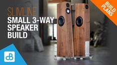Small Stereo Speaker Build - by SoundBlab Small Speakers, Diy Speakers, Built In Speakers, Stereo Speakers, Trim Router, Router Jig, Router Table Insert, Dayton Audio, Furniture