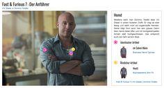 Meistens sieht man Dominic Toretto alias Vin Diesel in einem lockeren Outfit. Er mag es eher lässig und steht nicht auf zugeknöpfte Hemden. Daher trägt Dom auch hier sein graues Calvin Klein Hemd lieber offen und mit hochgekrempelten Ärmeln statt hochgeschlossen. Das entspricht auch viel mehr seinem Style.