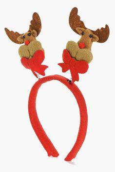 Christmas reindeer Headband Deeley Boppers Reindeer Teddy Bear Fancy Dress Kids