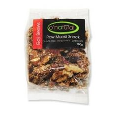 O' Natural Raw Muesli Snacks - Goji Berry Organic Recipes, Vegan Recipes, Muesli, Superfoods, The Best, Berry, Protein, January, Healthy Eating