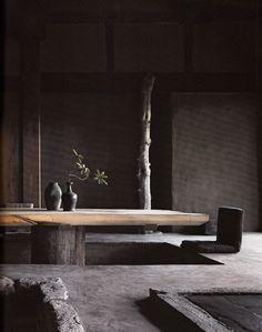 Originally for the Japanese aesthetic wabi-sabi. Explore tags: what is wabi-sabi? Wabi Sabi, Japan Design, Elle Decor, Interior Exterior, Interior Architecture, Luxury Interior, Room Interior, Japanese Architecture, Futuristic Architecture