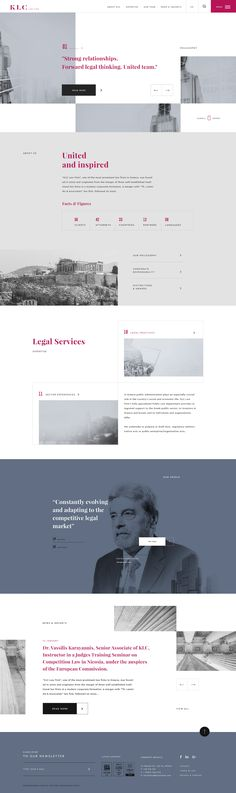 The aim of the project's design was to provide a great user experience, the company's reliability and expertise of the company in a friendly, pleasant and different from its rivals website. Creative Web Design, Web Design Tips, Web Design Trends, Website Design Layout, Web Layout, Law Firm Website, Lawyer Website, Interactive Web Design, Website Design Inspiration
