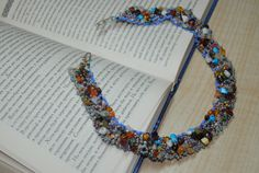 Multicolor gem stone. Collar necklace. Party accessory. by NioNia
