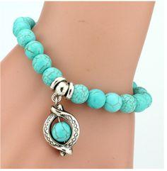 Bohemian turquoise bracelet Bracelets Fins, Love Bracelets, Fashion Bracelets, Bangle Bracelets, Fashion Jewelry, Women Jewelry, Bracelet Men, Friendship Bracelets, Fashion Fashion