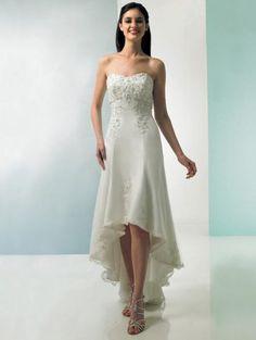 Wedding Blog High Low Hem Gowns Bride Reception Dresses Beach